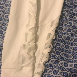Fabletics Pants - Fabletics High-Waisted Mesh Powerhold 7/8 Leggings